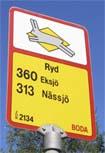 Hållplatsskylt: Ryd