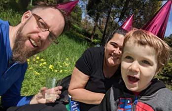 Erik, Dana and Johannes